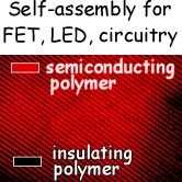 Self-assembly for FET, LED, circuitry